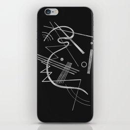 Kandinsky - Black Background Abstract art iPhone Skin