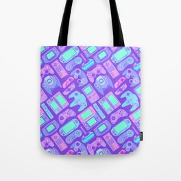 Video Game Controllers in Cool Colors Tote Bag