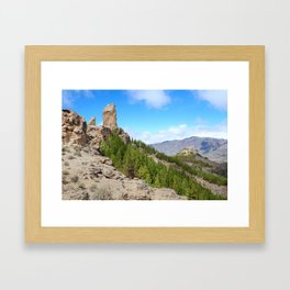Roque Nublo peak Framed Art Print