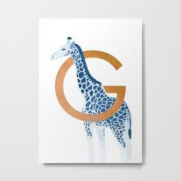 G - Giraffe Metal Print