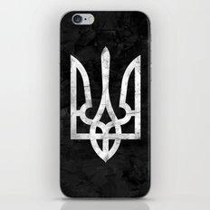 Ukraine Black Grunge iPhone & iPod Skin