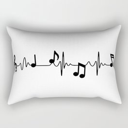 MUSICAL HEART BEAT Rectangular Pillow