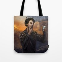 smaug Tote Bags featuring Smaug by Juli Grey