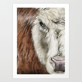 Cosmo the Cow  Art Print