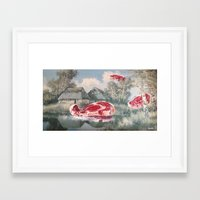 thegnarledbranch Framed Art Prints featuring Meat Migration by TheGnarledBranch