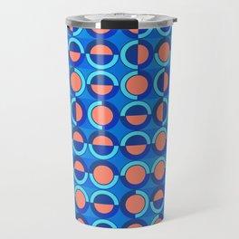 Tiny semicircles and arcs pattern Travel Mug