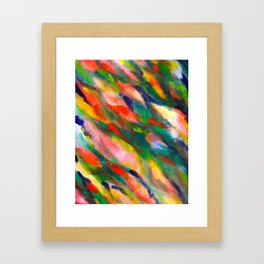 Swimming upstream abstract Framed Art Print