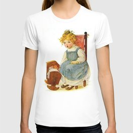 Vintage Girl Baby Doll T-shirt
