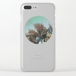 Vintage Palm Hawaii Summer Daze Clear iPhone Case