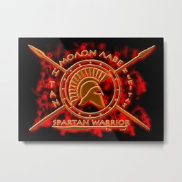 Spartan warrior Metal Print