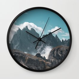 Dolomites Poster, Italy, Printable Photography, Nature, Landscape, Print, Wall Art, Home Decor Wall Clock