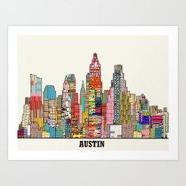 Austin texas Art Print