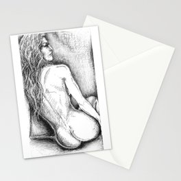 Woman Reclining in Morning Sunlight Stationery Cards
