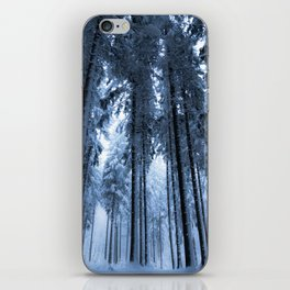 Snowy Winter Trees - Forest Nature Photography iPhone Skin