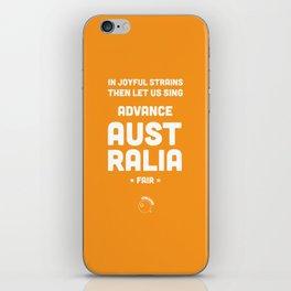 Australia Rugby Union national anthem — Advance Australia Fair iPhone Skin