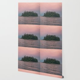 Lonely Island on Lac Saint-Jean Wallpaper