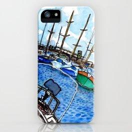 Boats at the Marina iPhone Case