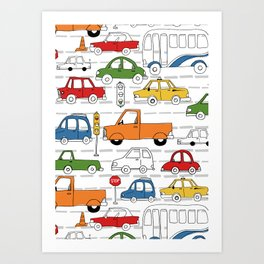 Busy Traffic Pattern Art Print