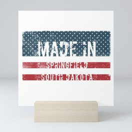 Made in Springfield, South Dakota Mini Art Print