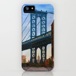 Manhattan Bridge from Brooklyn iPhone Case