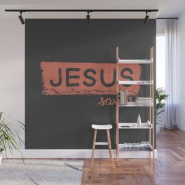 Jesus Saves Wall Mural