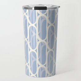 Yellow and blue waves Travel Mug