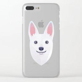 White Shepherd Clear iPhone Case