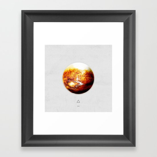 Element: Fire Framed Art Print