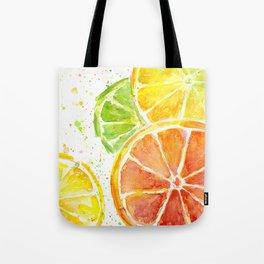 Fruit Watercolor Citrus Tote Bag