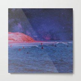 Surf Town Metal Print