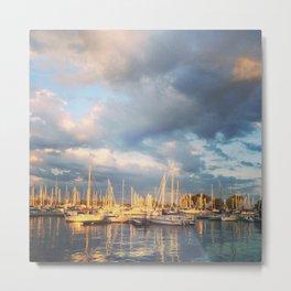 Montrose Harbour Metal Print
