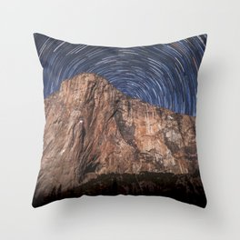 El Capitan Startrail 9-16-18 Throw Pillow