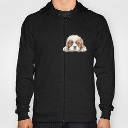 Cavalier King Charles Spaniel Dog Watercolor Pet Portrait Hoody