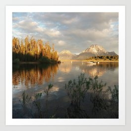 Sunrise on Jackson Lake, Grand Teton National Park Art Print