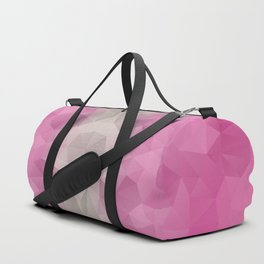 Kaleidoscopic design in pink and brown colors Duffle Bag