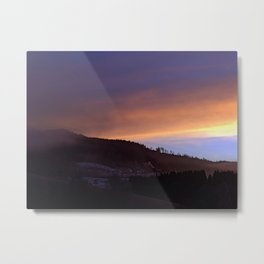 Winter sunrise over the mountains | landscape photography Metal Print