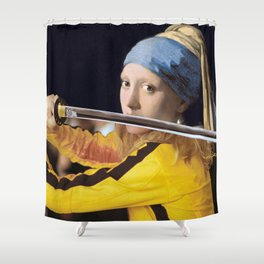 "Vermeer's ""Girl with a Pearl Earring"" & Kill Bill Shower Curtain"