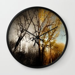 One Sided Wall Clock