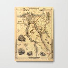 Map Of Egypt 1800 Metal Print