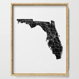 Florida Black Map Serving Tray