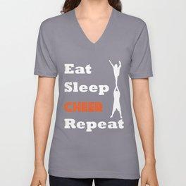 EAT. SLEEP. CHEER. REPEAT. Unisex V-Neck