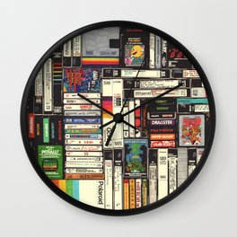 Cassettes, VHS & Games Wall Clock