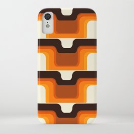 Mid-Century Modern Meets 1970s Orange iPhone Case