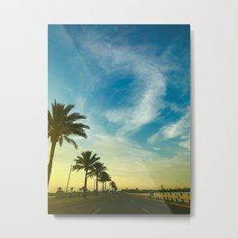 Summer— Palm Trees Metal Print