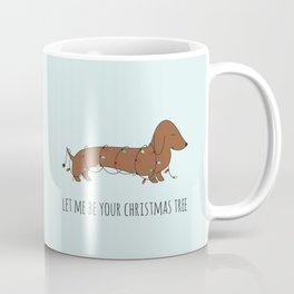 SAUSAGE DOG CHRISTMAS TREE Coffee Mug