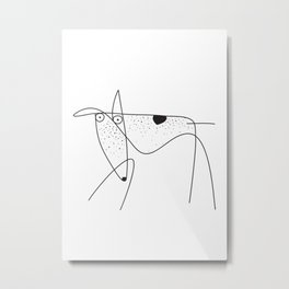 greyhound dog Metal Print