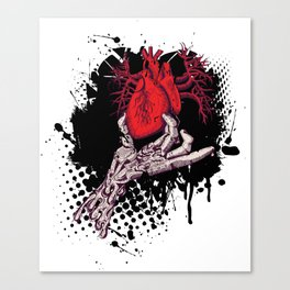 Ripped Out Heart Canvas Print