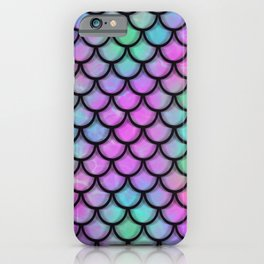 Rainbow Mermaid Scales iPhone Case