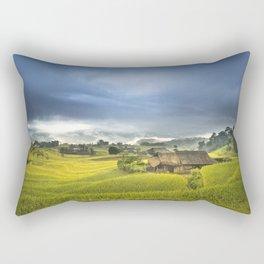 Vietnam Rice Cultivation Rectangular Pillow
