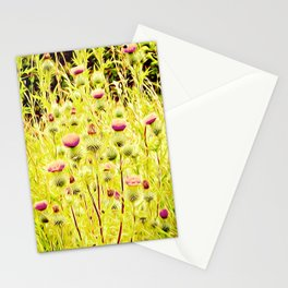 Vintage Thistles Stationery Cards